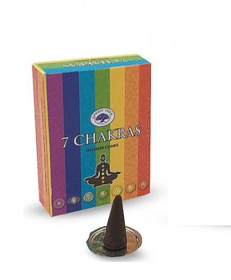 Incenso em cone 7 chakras