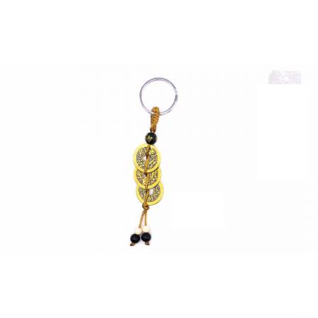 Porta chaves 3 moedas